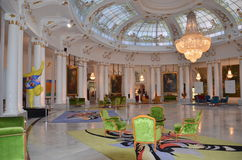 Negresco the hall of the best hotels in Nice in France Royalty Free Stock Images
