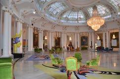 Negresco korridoren av de bästa hotellen i Nice i Frankrike Royaltyfria Bilder