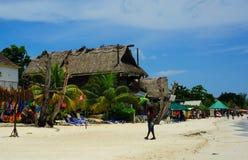 Negril海滩牙买加 免版税库存照片