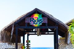 Ricks Cafe, a famous sports bar and restaurant on the cliffs of west end Negril in Westmoreland, Jamaica royalty free stock photos