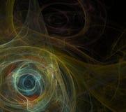 Negro abstracto del fondo del fractal imagenes de archivo