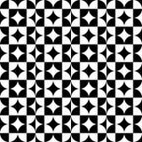 Negro abstracto del modelo del cuadrado del círculo Imágenes de archivo libres de regalías