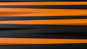 Negro abstracto y la naranja artesona el fondo 3D Foto de archivo libre de regalías