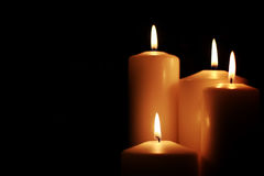 Negro aislado luz de la vela Foto de archivo