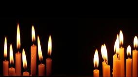 Negro aislado luz de la vela almacen de metraje de vídeo