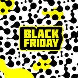 Negro amarillo negro de viernes stock de ilustración