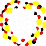 Negro amarillo rojo blanco de las bolas en el fondo blanco ilustración del vector