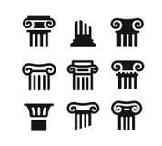 Negro arquitectónico de las columnas ilustración del vector