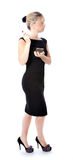 Negro atractivo de la mujer vestido imagen de archivo libre de regalías
