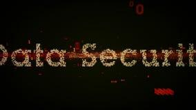 Negro binario de la seguridad de datos de las palabras claves libre illustration