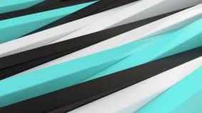 Negro, blanco abstractos y azul artesona el fondo 3D Fotografía de archivo libre de regalías