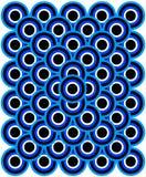 Negro blanco azul claro azul de los ojos del arte de Op. Sys. mil Imagenes de archivo