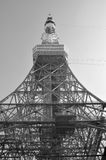 Negro/blanco de la torre de Tokio Fotografía de archivo