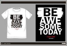 Negro blanco del vector de la camiseta Foto de archivo libre de regalías