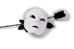 Negro blanco Rose de la máscara foto de archivo libre de regalías