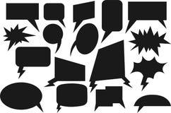 Negro cómico de la burbuja del discurso Imagenes de archivo