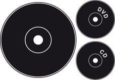 Negro CD Imagenes de archivo