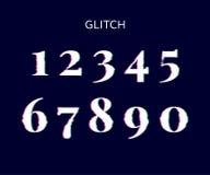 Negro congelado de los números del vector de la distorsión de la pantalla de la interferencia ilustración del vector