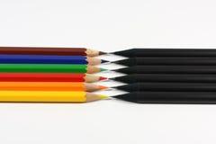 Negro contra color Fotos de archivo libres de regalías