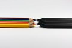 Negro contra color Fotografía de archivo
