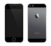 Negro de Iphone 5s Imagen de archivo libre de regalías