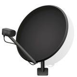 Negro de la antena parabólica Imagen de archivo libre de regalías