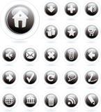 Negro de la burbuja Imágenes de archivo libres de regalías