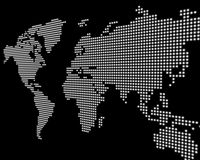 Negro de la correspondencia de mundo stock de ilustración