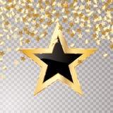 Negro de la estrella del confeti libre illustration