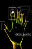 Negro de la identidad de Digitaces stock de ilustración