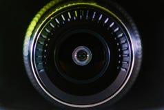 Negro de la lente de cámara, fotos cercanas imagen de archivo libre de regalías