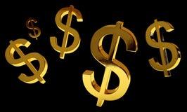 Negro de la lluvia del dinero Imagen de archivo