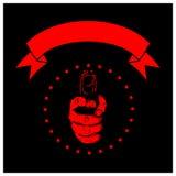 Negro de la pistola de la mano stock de ilustración