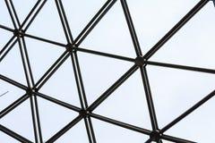 Negro de la rejilla de la textura del fondo Imagen de archivo
