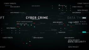 Negro de la seguridad de datos de las palabras claves ilustración del vector