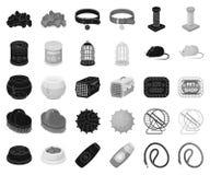 Negro de la tienda de animales, iconos monocromáticos en la colección determinada para el diseño Las mercancías para los animales ilustración del vector