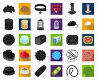 Negro de la tienda de animales, iconos planos en la colección determinada para el diseño Las mercancías para los animales vector  libre illustration