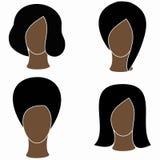Negro de las mujeres del icono Imágenes de archivo libres de regalías