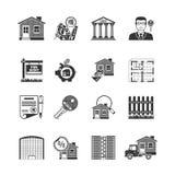 Negro de las propiedades inmobiliarias Fotos de archivo