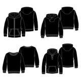 Negro de las sudaderas con capucha 2 Fotos de archivo