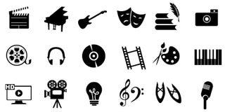 Negro de los artes de los iconos Imagen de archivo