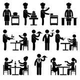 Negro de los empleados del restaurante ilustración del vector