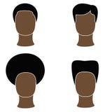 Negro de los hombres del icono Imagenes de archivo