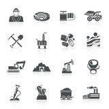 Negro de los iconos de la explotación minera