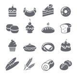 Negro de los iconos de la hornada Imagen de archivo libre de regalías