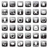 Negro de los iconos del Web Fotografía de archivo libre de regalías