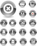 Negro de los iconos del Web Imagenes de archivo