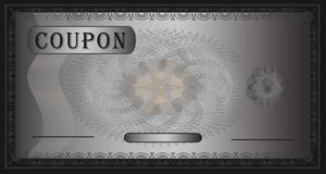 Negro de plata de la cupón Fotografía de archivo libre de regalías