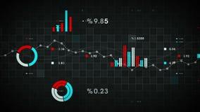 Negro de seguimiento de los datos de negocio libre illustration