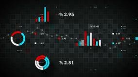 negro de seguimiento de los datos de negocio 4K ilustración del vector